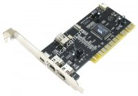 Контроллер PCI-1394 FireWire 2+1port с кабелем, VIA chipset (7804)